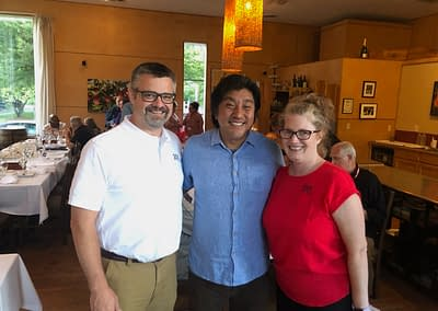 Noelle and Tom with Chef Lee