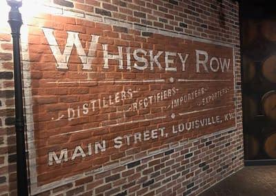 Whiskey Row Sign at Evan Williams