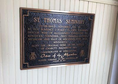 St. Thomas Seminary Plaque
