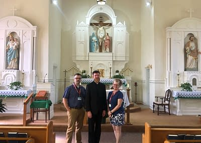 Inside Holy Cross with Father Goodin