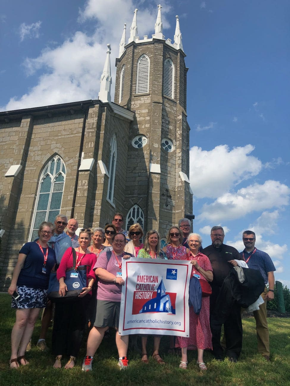 Group Out In Front of St. Rose