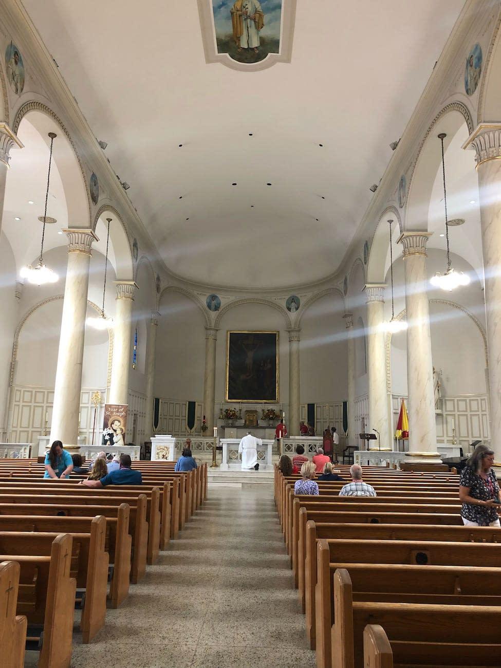 Interior of St. Joseph from Rear