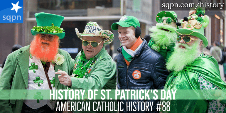 History of St. Patrick's Day header